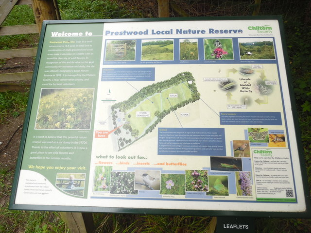 Information Board at Prestwood Local Nature Reserve