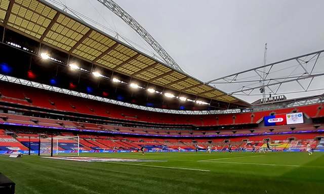 Wembley Stadium without the fans