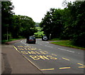 SO5011 : Bilingual bus stop, Portal Road, Monmouth by Jaggery