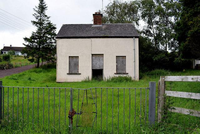 Derelict labourer's cottage, Laragh, Beragh
