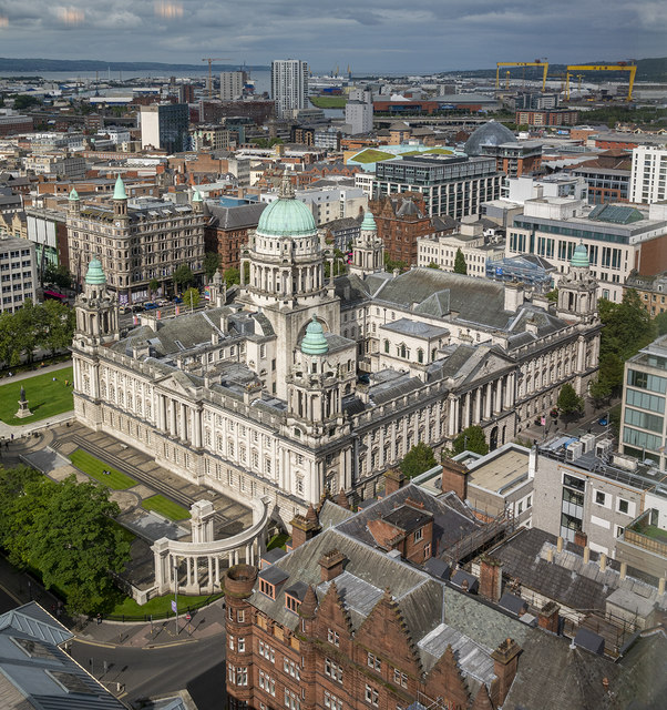 Belfast City Hall from above