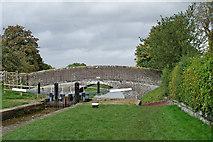SJ6541 : Audlem Top Lock and Coxbank Bridge, Cheshire by Roger  Kidd