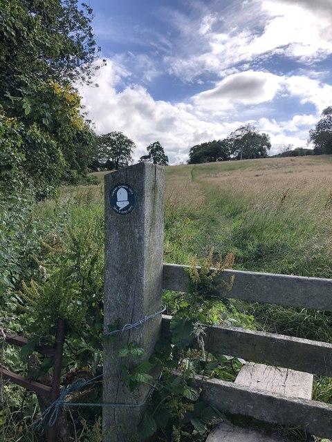Offa's Dyke path Chweleiriog Farm