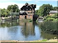 TL2871 : Houghton Mill and mill pond in Cambridgeshire by Richard Humphrey