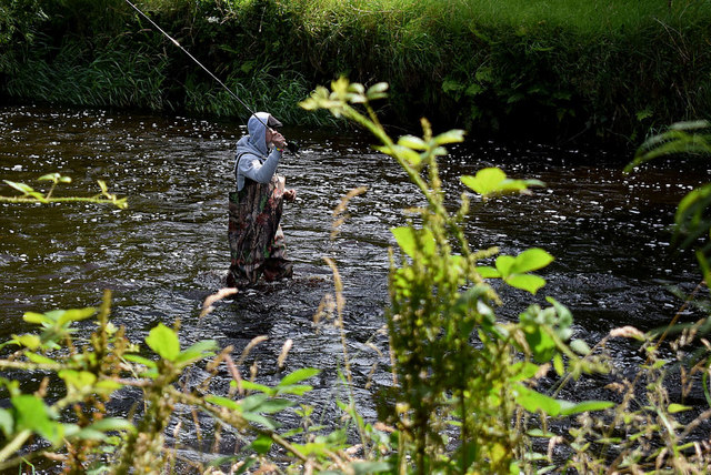 Fly fishing in the Camowen River