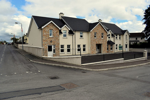 New houses along Queens Parade, Omagh