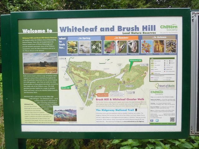 Information Board at Whiteleaf Hill