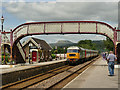 SD8163 : Test train at Settle - departing by Stephen Craven