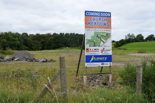 Housing development notice for Church Meadows
