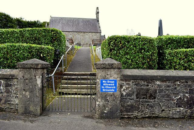 Side entrance, Mountjoy Presbyterian Church