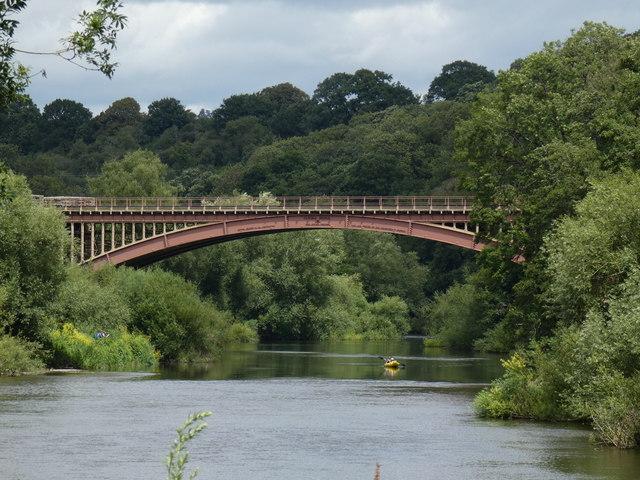 Victoria Bridge crossing the River Severn