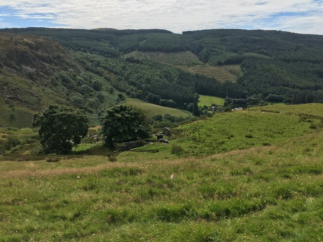 View above Afon Cynfal by Richard Hoare