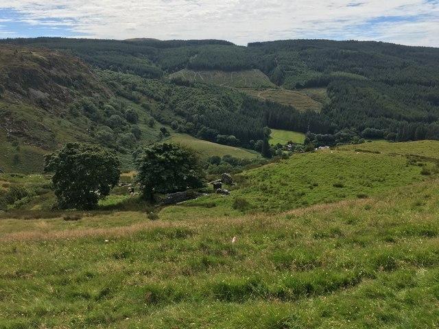 View above Afon Cynfal