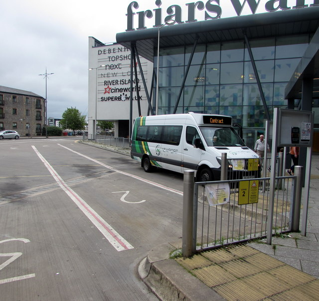 Minibus in Friars Walk bus station, Newport by Jaggery