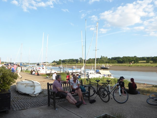 Relaxing on the quay: mid July 2020