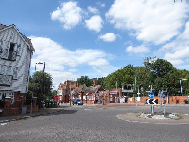 Roundabout near Wivenhoe Railway Station