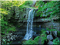 NY7540 : Hill walker beside Ashgill Force by Trevor Littlewood