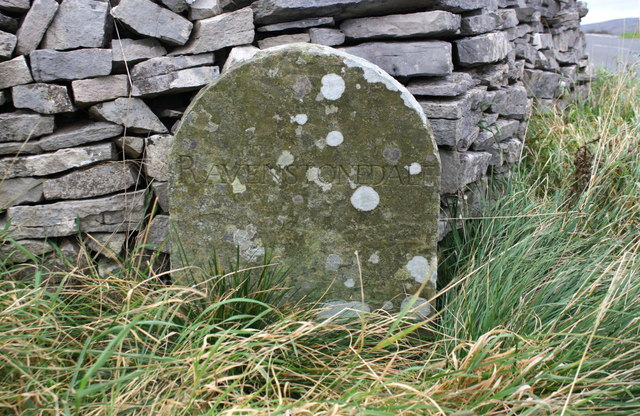 Ravenstonedale / Kirkby Stephen boundary stone on NW side A683
