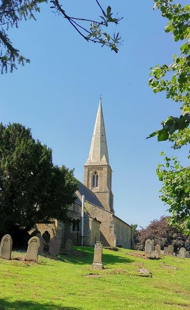 St Oswald's church, Luddington from east