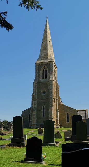 St Oswald's church, Luddington from west