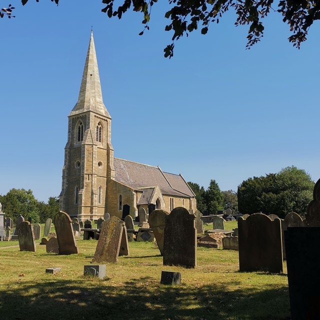 St Oswald's church, Luddington from south-west