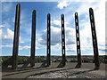 NZ3466 : Wooden Sculpture, Redburn Dene, North Shields by Geoff Holland
