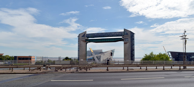 The Hull Tidal Surge Barrier seen from Myton Bridge