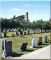 SU7205 : Warblington Castle from the Cemetery by Des Blenkinsopp