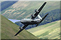 NT2217 : A low flying Hercules C-130 at Muchra by Walter Baxter