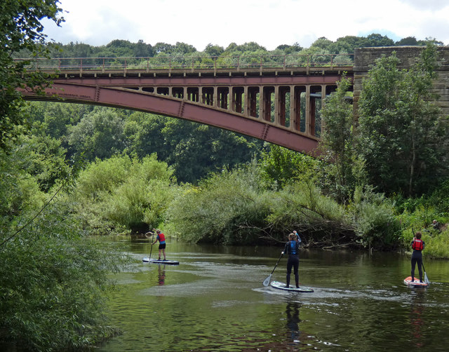Paddle boarders on the River Severn