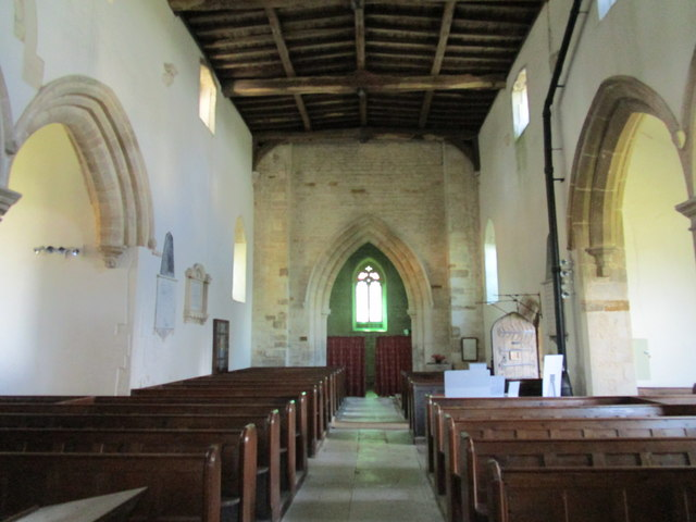 Church of St. John the Baptist, Wakerley interior looking westwards