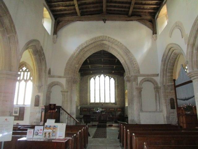 Church of St. John the Baptist, Wakerley, interior looking eastwards