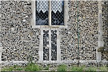 TM3464 : Rendham, St. Michael's Church: Western aspect of the tower (detail) by Michael Garlick