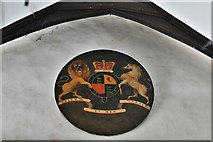 TM3464 : Rendham, St. Michael's Church: Royal Coat of Arms, Queen Victoria by Michael Garlick