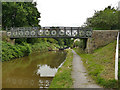 SJ8356 : Canal footbridge at Hall Green by Stephen Craven