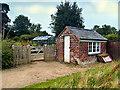 SJ8383 : Brick Shed, Quarry Bank Mill Upper Garden by David Dixon
