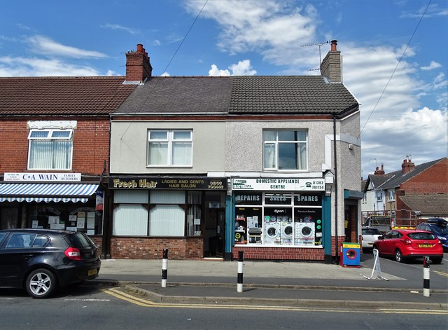 Businesses on Moss Road, Askern