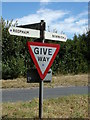TG1318 : Signpost on Station Road by Adrian Cable