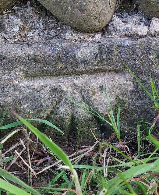 Benchmark on Sunny Bank Wall, Rainton
