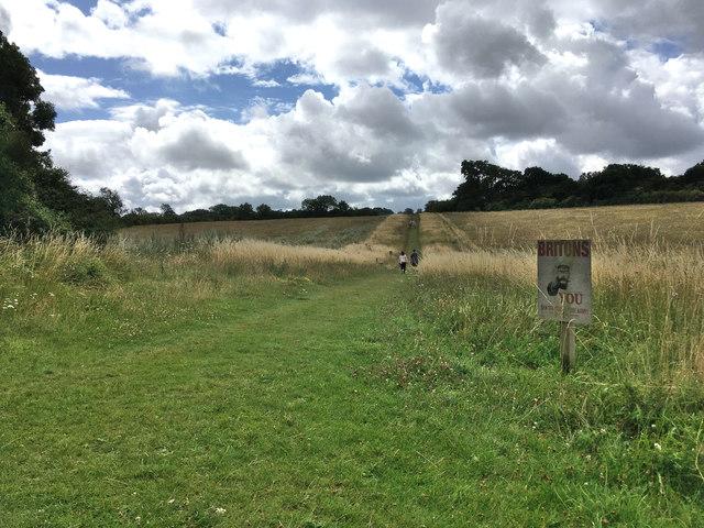 Footpath on Langley Wood estate