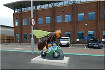 SJ7996 : Bee-sy Rider at Trafford Park by Gerald England