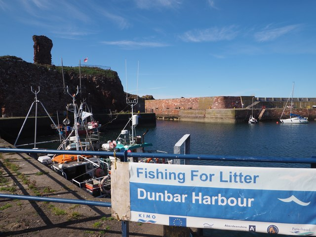 A View of Dunbar Harbour and the Castle Ruins