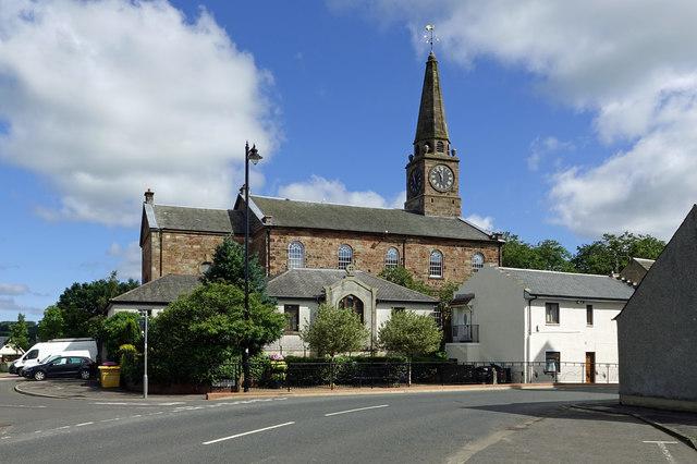 Galston Parish Church view