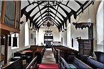 TM3464 : Rendham, St. Michael's Church: The nave from the chancel by Michael Garlick