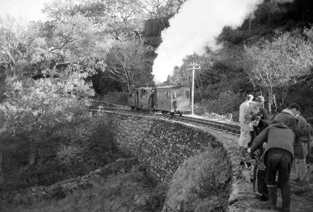 Weekend working party near Hafod y Llyn, Ffestiniog Railway
