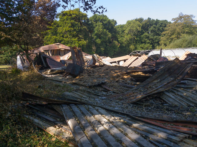 Waterview Farm after fire
