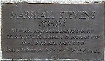SJ7996 : Marshall Stevens: memorial inscription by Gerald England