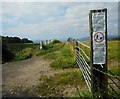 NS3278 : Notices at the start of the path by Richard Sutcliffe
