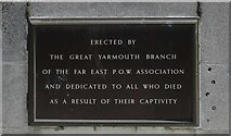TG5307 : Memorial to the Far East Prisoners of War by Adrian S Pye