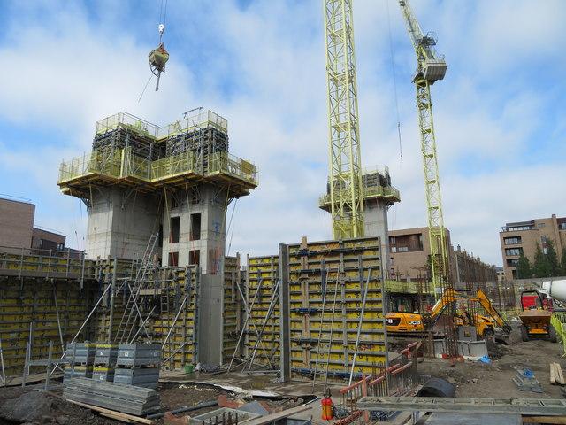 Springside building development, Fountainbridge